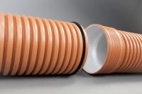 Гофрированная канализационная труба Икапласт SN 8 160x139 мм